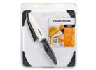 Farberware 8 x 10 Nonslip Cutting Board w/ Ceramic Utility Knife