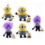 Despicable Me 6inch Plush, Set Of 5