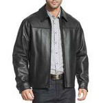BGSD Men's Greg Open Bottom Front Zip Leather Jacket (2 Colors)
