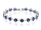 Oravo Created Sapphire Sterling Silver Bracelet