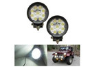 iJDMTOY 27W High Power Auxilary LED Work Light, 2-Pack (2 Shapes)