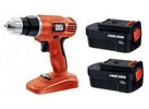 Refurbished: Black & Decker 18V Cordless Drill Driver with Two Batteries