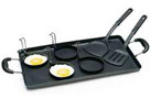Cook N Home Nonstick Double Griddle w/ Egg Rings + Spatulas