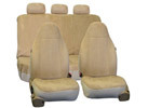 FH Group Suede Airbag & Split Compatible Full Set Car Seat Covers (3 Colors)