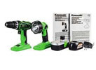 Kawasaki 18V Heavy Duty Drill & Work Light Combo Set