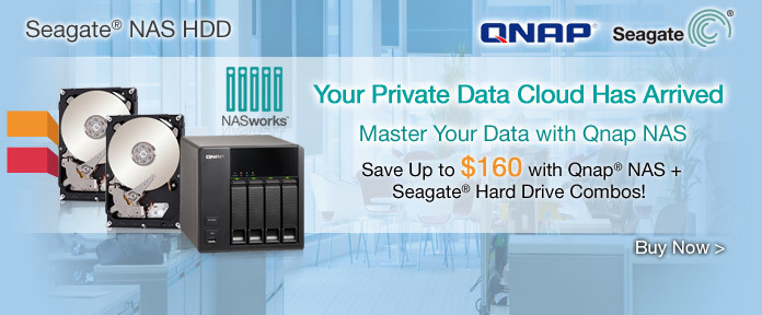 Save Up to $160 with Qnap® NAS + Seagate® Hard Drive Combos!