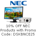 10% off NEC products with promo code