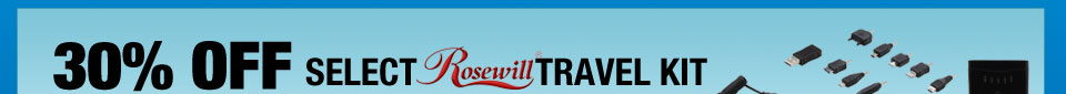 30% off Rosewill Travel Kit