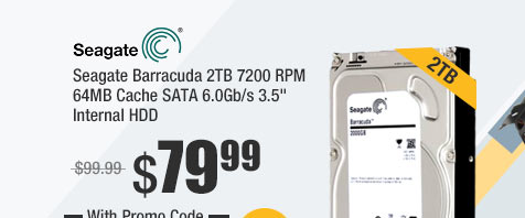 "Seagate Barracuda 2TB 7200 RPM 64MB Cache SATA 6.0Gb/s 3.5"" Internal HDD"