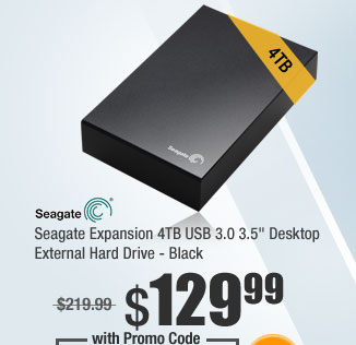 "Seagate Expansion 4TB USB 3.0 3.5"" Desktop External Hard Drive - Black"