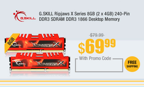 G.SKILL Ripjaws X Series 8GB (2 x 4GB) 240-Pin DDR3 SDRAM DDR3 1866 Desktop Memory