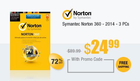 Symantec Norton 360 - 2014 - 3 PCs