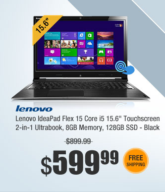 "Lenovo IdeaPad Flex 15 Core i5 8GB 128GB SSD 15.6"" Touchscreen 2-in-1 Ultrabook - Black"