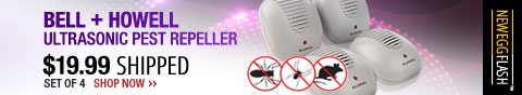 Newegg Flash - Bell + Howell Ultrasonic Pest Repeller .