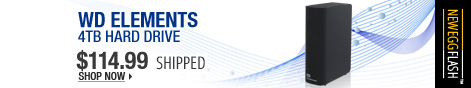 Newegg Flash - WD Elements 4TB Hard Drive