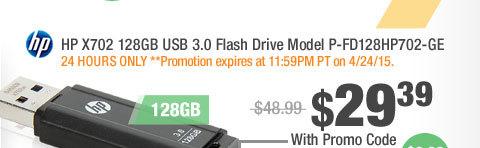 HP X702 128GB USB 3.0 Flash Drive Model P-FD128HP702-GE
