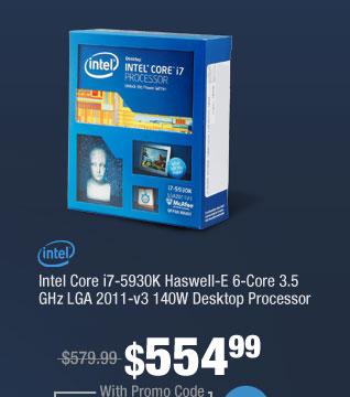 Intel Core i7-5930K Haswell-E 6-Core 3.5 GHz LGA 2011-v3 140W Desktop Processor