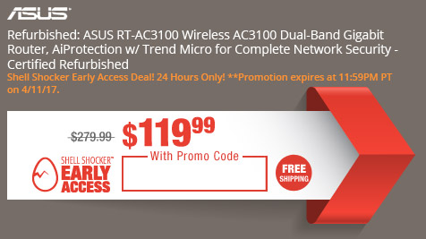Refurbished: ASUS RT-AC3100 Wireless AC3100 Dual-Band Gigabit Router, AiProtection w/ Trend Micro for Complete Network Security - Certified Refurbished