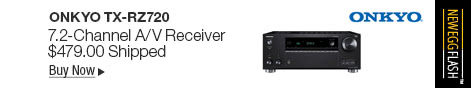 Newegg Flash �C Onkyo TX-RZ720 7.2-Channel A/V Receiver