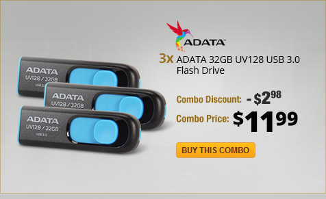 Combo: 3x ADATA 32GB UV128 USB 3.0 Flash Drive