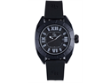 Giulio Romano Termoli GR-6000-14-011 Men's Black Aluminnum Embossed Dial Rubber Analog Watch