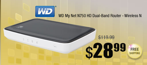 WD My Net N750 HD Dual-Band Router - Wireless N