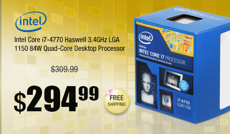 Intel Core i7-4770 Haswell 3.4GHz LGA 1150 84W Quad-Core Desktop Processor