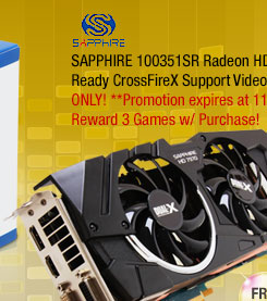 SAPPHIRE 100351SR Radeon HD 7970 3GB 384-bit GDDR5 HDCP Ready CrossFireX Support Video Card OC with Boost