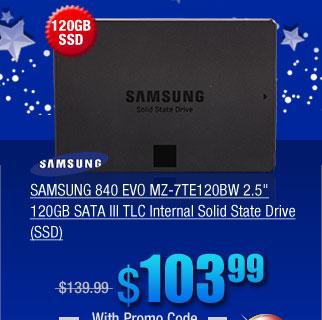 SAMSUNG 840 EVO MZ-7TE120BW 2.5 inch 120GB SATA III TLC Internal Solid State Drive (SSD)