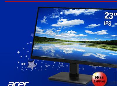 Acer H236HLbid Black 23 inch 5ms (GTG) HDMI Widescreen LED Backlight LED Backlit LCD Monitor, IPS Panel 250 cd/m2 ACM 100,000,000:1 (1000:1)