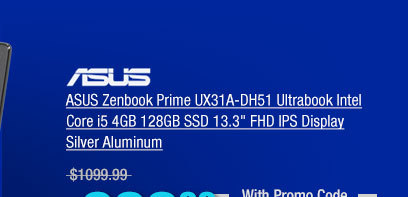 ASUS Zenbook Prime UX31A-DH51 Ultrabook Intel Core i5 4GB 128GB SSD 13.3 inch FHD IPS Display Silver Aluminum
