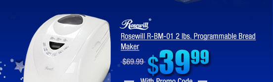 Rosewill R-BM-01 2 lbs. Programmable Bread Maker