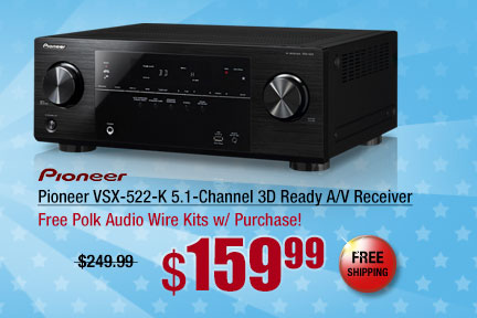 Pioneer VSX-522-K 5.1-Channel 3D Ready A/V Receiver