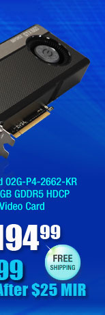 VGA SuperClocked 02G-P4-2662-KR GeForce GTX 660 2GB GDDR5 HDCP Ready SLI Support Video Card