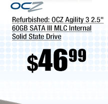 "Refurbished: OCZ Agility 3 2.5"" 60GB SATA III MLC Internal Solid State Drive"
