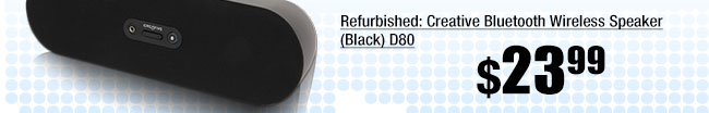 Refurbished: Creative Bluetooth Wireless Speaker (Black) D80