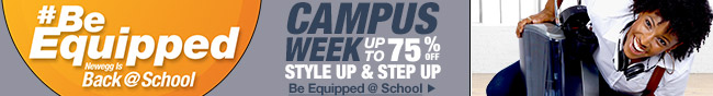 Campus week. Up to 75% off.
