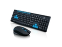 CORN Black & Red Multimedia Gaming Keyboard & Mouse With USB RF 2.4GHz Wireless HTPC, Anti-Ghosting Feature, and Water-Proof Design