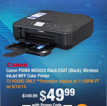 Canon PIXMA MG5520 Black:ESAT (Black): Wireless InkJet MFP Color Printer