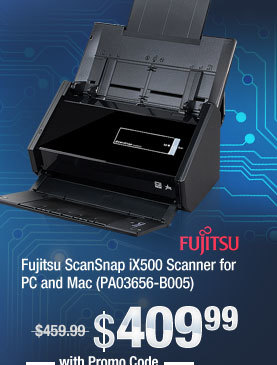 Fujitsu ScanSnap iX500 Scanner for PC and Mac (PA03656-B005)