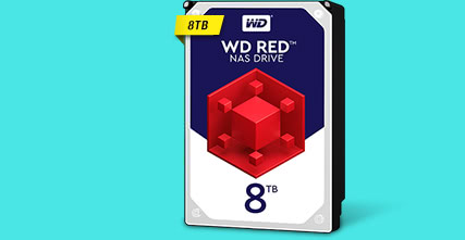 WD Red 8TB NAS Hard Disk Drive - 5400 RPM Class SATA 6Gb/s 256MB Cache 3.5 Inch