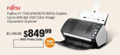 Fujitsu FI-7160 (PA03670-B055) Duplex Up to 600 dpi USB Color Image Document Scanner