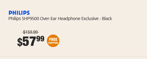 Philips SHP9500 Over-Ear Headphone Exclusive - Black