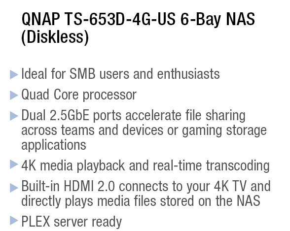 QNAP TS-653D-4G-US 6-Bay NAS (Diskless)