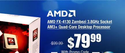 AMD FX-4130 Zambezi 3.8GHz Socket AM3+ Quad-Core Desktop Processor