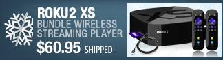 roku2 xs bundle wireless streaming player.