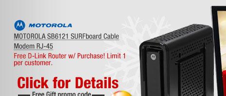 MOTOROLA SB6121 SURFboard Cable Modem RJ-45
