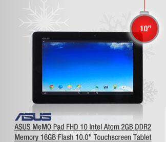 """ASUS MeMO Pad FHD 10 Intel Atom 2GB DDR2 Memory 16GB Flash 10.0"""" Touchscreen Tablet"""