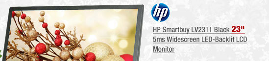 "HP Smartbuy LV2311 Black 23"" 5ms Widescreen LED-Backlit LCD Monitor"