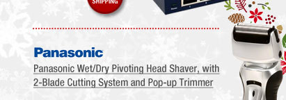 Panasonic Wet/Dry Pivoting Head Shaver, with 2-Blade Cutting System and Pop-up Trimmer